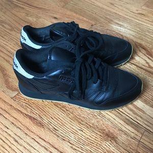 Black Leather Reebok Classic